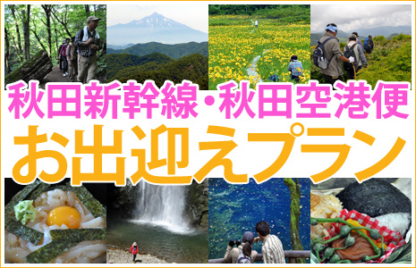 白神山地トレッキングツアー秋田空港・秋田駅お出迎えプラン